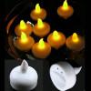 Lot de 12 bougies LED flottante jaune