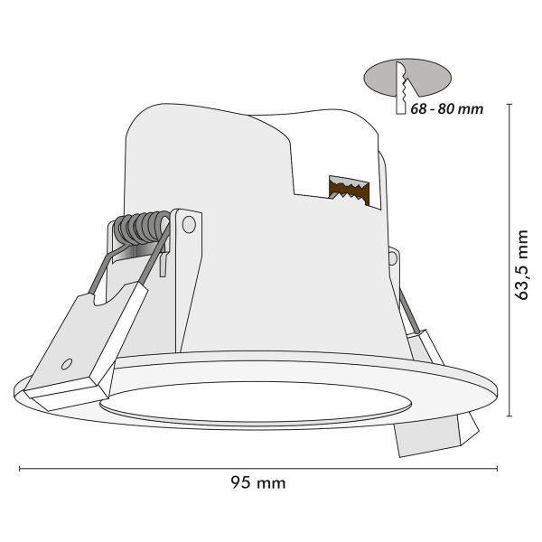 Downlight 8W WAVE IP44