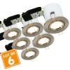 Lot de 6 Spots orientable acier brossé BBC Avec spot LED GU10 350 Lm