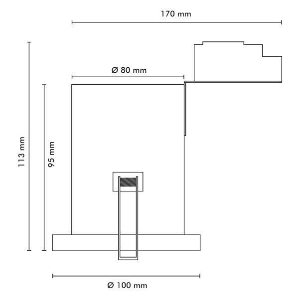 lot de 6 spots orientable acier bross bbc rt2012 ampoules gu10 eclairage design. Black Bedroom Furniture Sets. Home Design Ideas