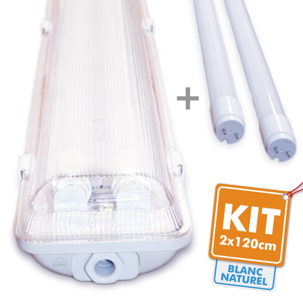 kit 2 tubes led 120cm