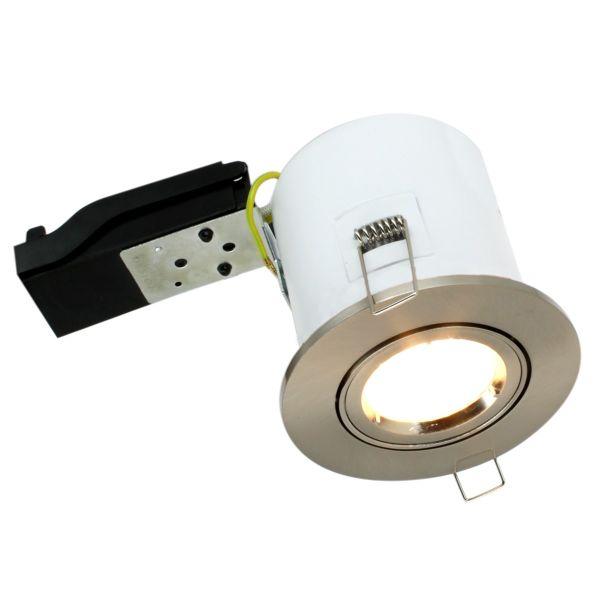 Spot orientable acier brossé BBC Avec spot LED GU10 5w