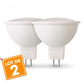 Lot de 2 Ampoules Spots LED GU5.3 MR16 5W Eq 40W