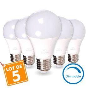 LOT de 5 AMPOULES LED E27 13W DIMMABLE