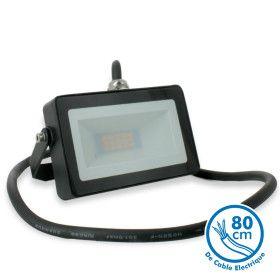 Projecteur LED 10W Noir Extérieur IP65