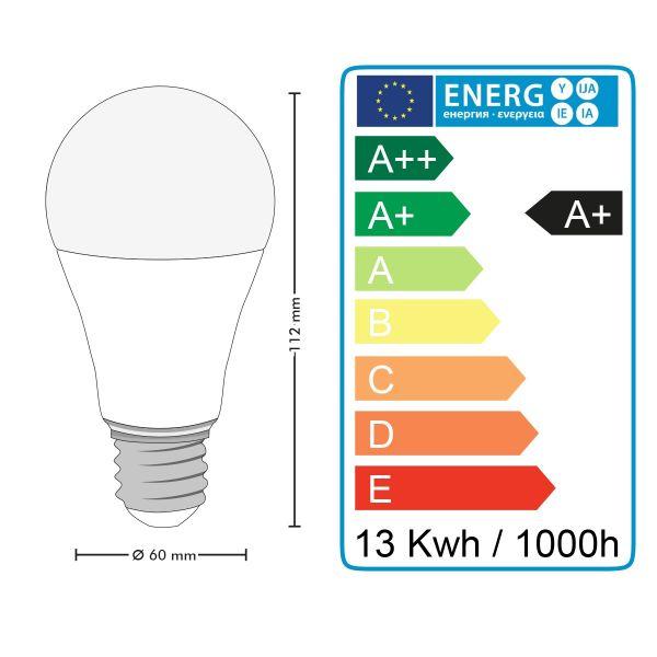 LOT de 10 AMPOULES LED E27 13W DIMMABLE Eq 75W Eclairage