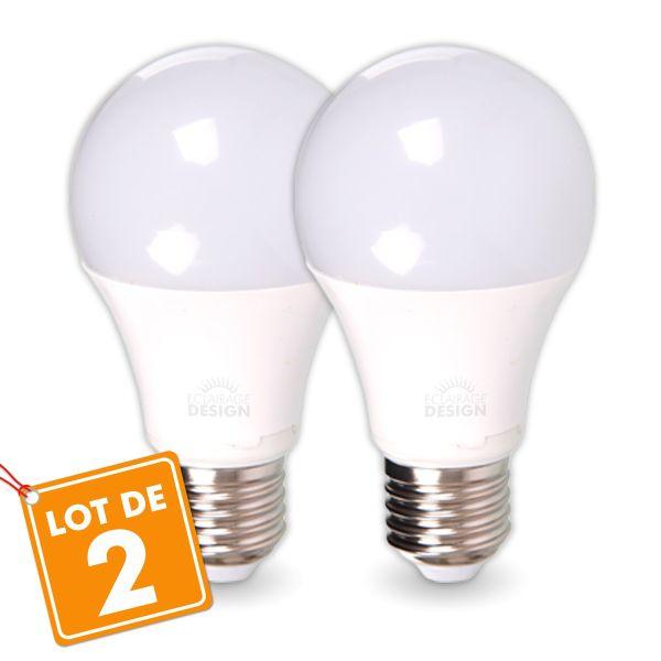 LOT de 2 AMPOULES LED E27 14W Eq 100W