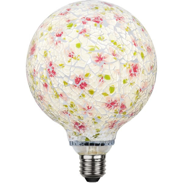 Ampoule E27 Deco tendance Mosaïque 4W Rose