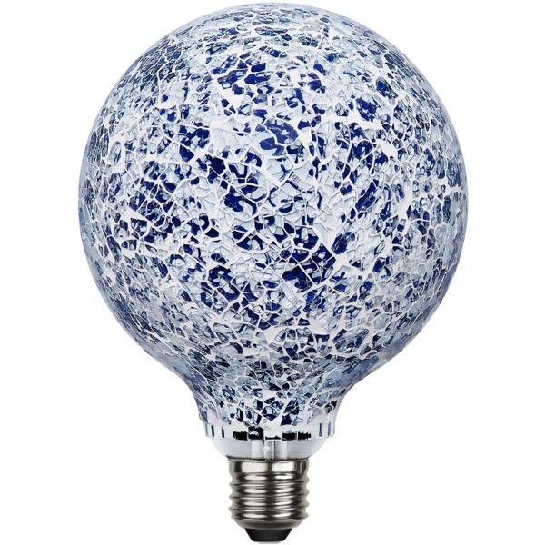 Ampoule E27 Mosaïque 4W bleue/blanche