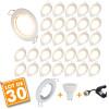 Lot de 30 Spot encastrable fixe complet blanc avec GU10 LED de 5W eq 40W