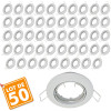 Lot de 50 supports encastrable orientable blanc D82