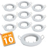 Lot de 10 supports encastrable fixe blanc D79