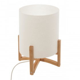Lampe en bambou & abat-jour en plastique E14