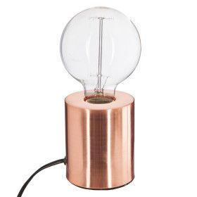 Lampe tube cuivre en métal E27