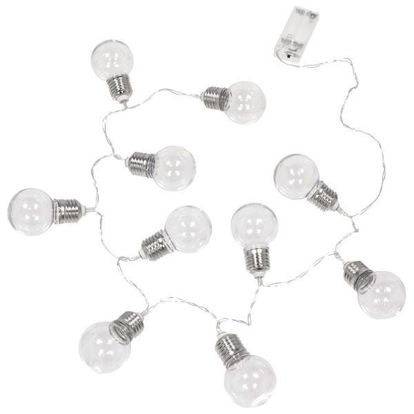 Guirlande Lumineuse 10 Ampoules LED sur Piles