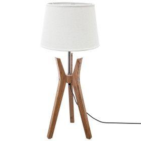 """Lampe trépied & abat-jour lin """"Kalo"""" - E27 - 65 cm"""