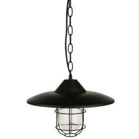 """Suspension noire """"Grik"""" en métal - E27 - D 30 cm"""