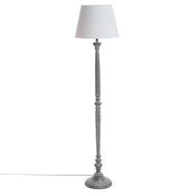 Lampadaire gris en bois - E27 - 153 cm