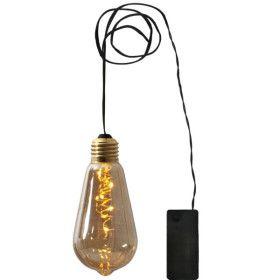 Guirlande Déco Ampoule LED sur piles ambrée