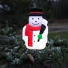Décoration figurine Bonhomme de neige lumineuse sur piles avec timer