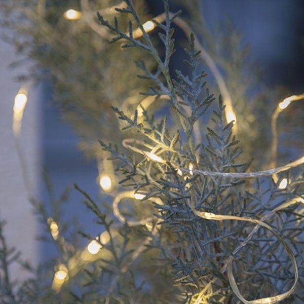 Guirlande 200 micro LED de 20 mètres blanc chaud exterieur