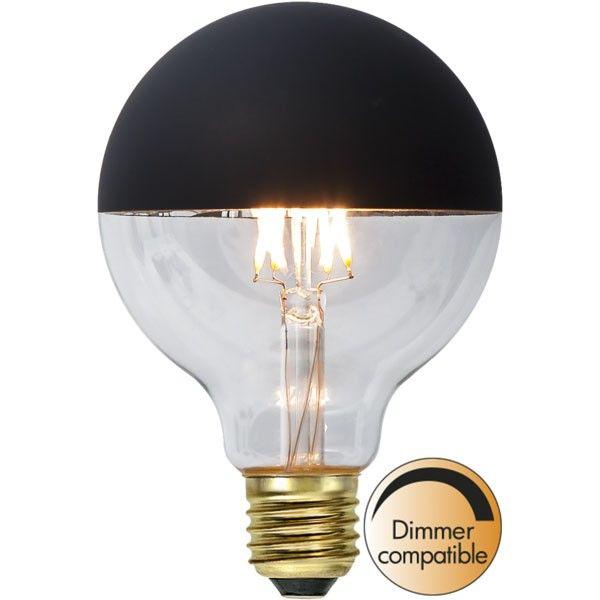 Ampoule E27 G95 Filament Dimmable globe TOP noir