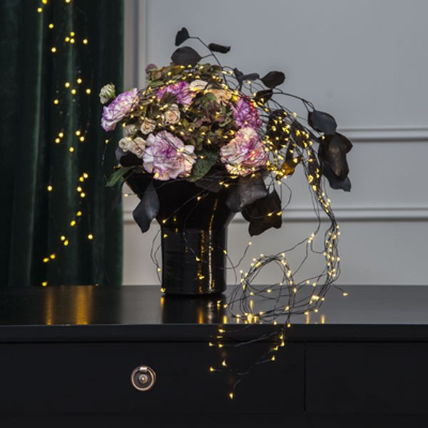 Guirlande micro LED bouquet blanc chaud 125 LED