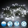 Guirlande lumineuse 8 mètres 128 LED - Blanc Pur extérieur