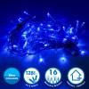 Guirlande lumineuse 8 mètres 128 LED - Bleu extérieur