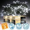 Lot de 3 Guirlandes lumineuses 8 mètres 128 LED - Blanc Pur extérieur