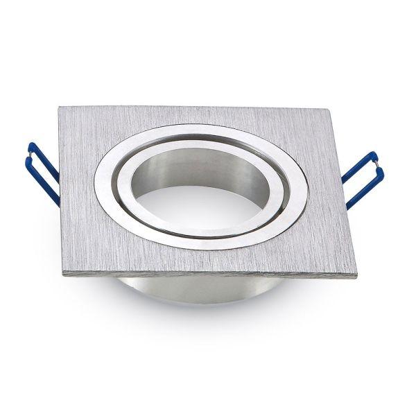 Support orientable carré Alu brossé