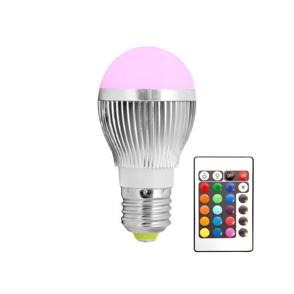 ampoule led globe couleur telecommand. Black Bedroom Furniture Sets. Home Design Ideas
