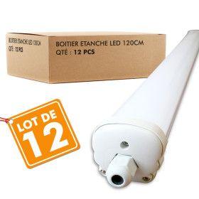 Lot de 12 Boitiers LED Etanche 120cm 36W IP65