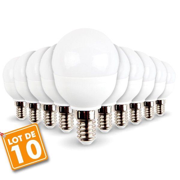 Lot de 10 ampoules E14 Mini Globe 5.5W 470 lumens