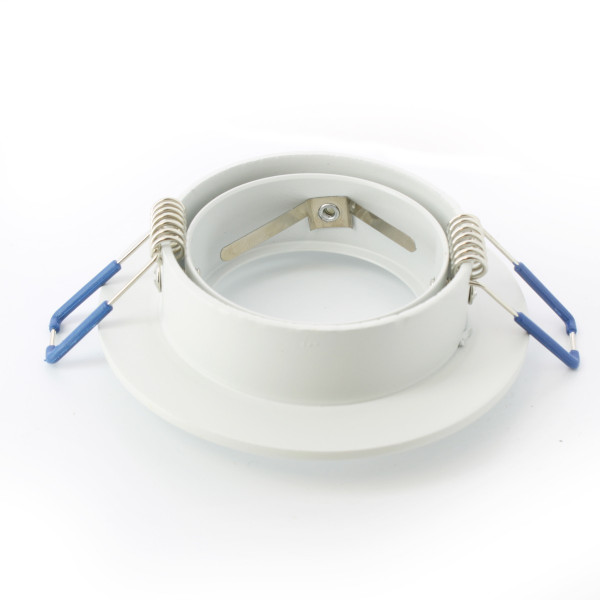Support orientable rond Alu blanc