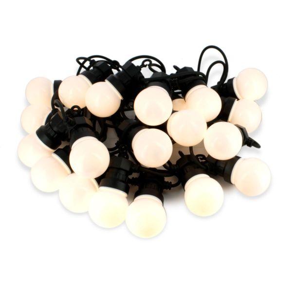 Guirlandes LED de 10 mètres avec 20 Ampoules 0,5 W 3000k Blanc Chaud - IP44