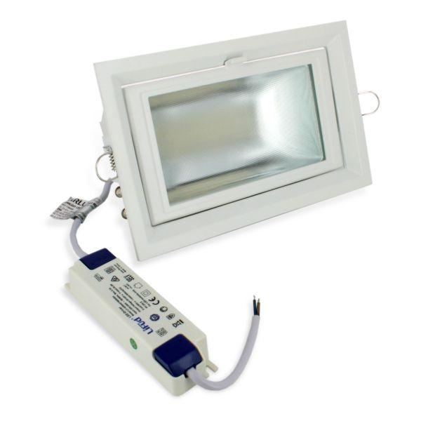 Downlight Rectangulaire Pro Escamotable orientable 35W 4000k Garantie 5 Ans - 50 000 Heures