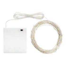 Guirlande de 12 mètres 120 Micro LED Blanc Chaud sur piles