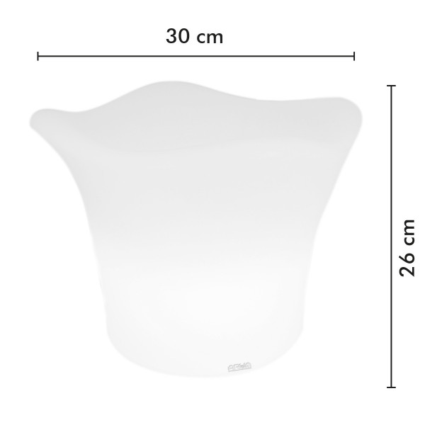 Seau à Champagne lumineux rechargeable LED 27 cm