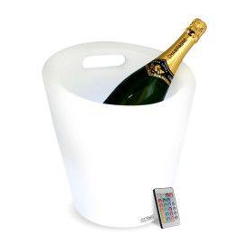 Seau à Champagne lumineux poigné rechargeable LED