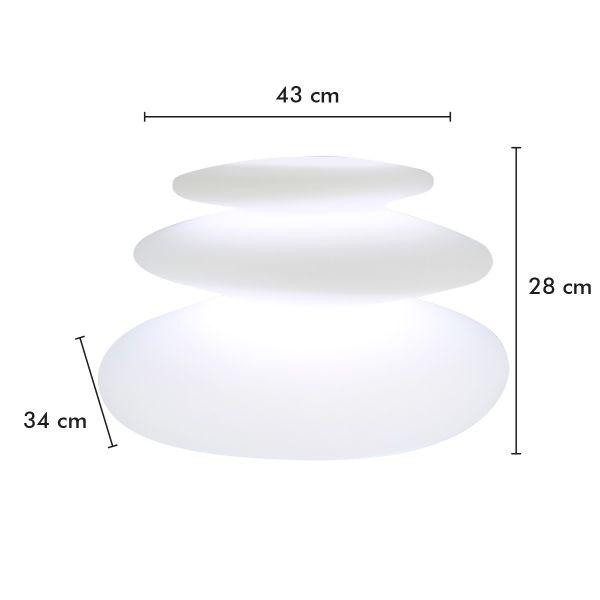 Lampe Gallets Led rechargeable Multicolore 28 cm