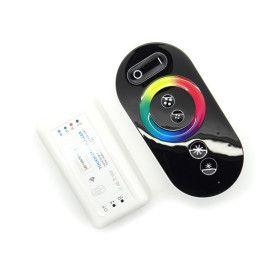 Controleur LED RGB radiofréquence 12/24V 18A télécomande tactile noire