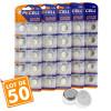 Lot de 50 piles bouton AG13 LR44