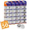 Lot de 50 piles bouton AG10 LR1130