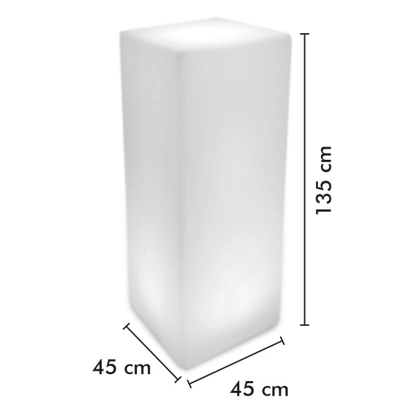Mange Debout Lumineux 135 cm Rechargeable Extérieur