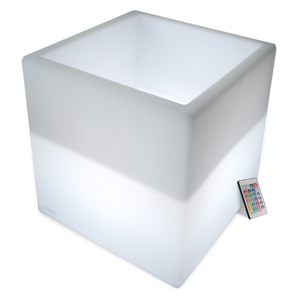 Cube Sceau à Champagne lumineux rechargeable LED 40cm Extérieur