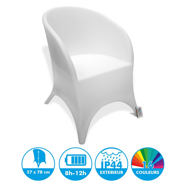 Fauteuil Lumineuse Rechargeable LED 78 cm