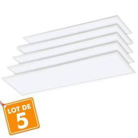 Lot de 5 Dalles lumineuses LED 40W 1200 x 300 mm garantie 3 ans