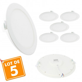 Lot de 5 Spots Encastrables LED Panel Extra-Plat 18W
