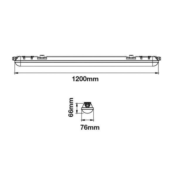 Kit 2 tubes LED 120cm 6400K + boitier étanche